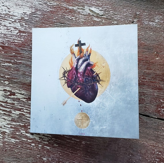 The Sacred Heart of Jesus - note card set
