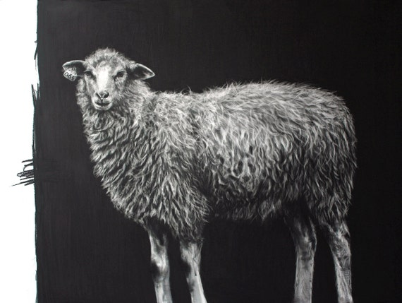 The Little Ewe or Miorita - giclee print