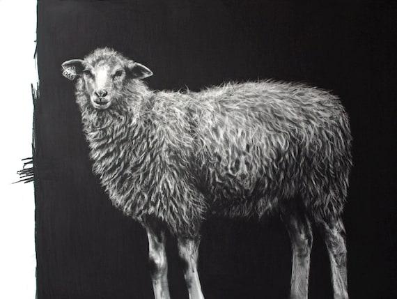 The Little Ewe or Miorita - giclee print