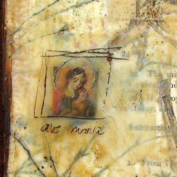 "Ave Maria - 5""x5"" print"