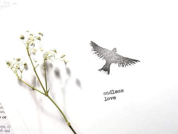 Endless Love - fine art note card, linocut