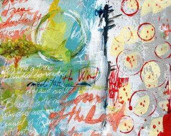 Psalm 1 - original acrylic painting
