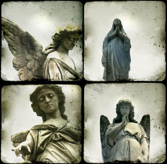 New Orleans Angels - Fine Art Prints - 4  mini prints/note cards