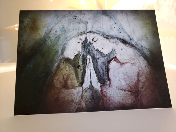 The Visitation- Blessed Mother and Elizabeth, Note Card set