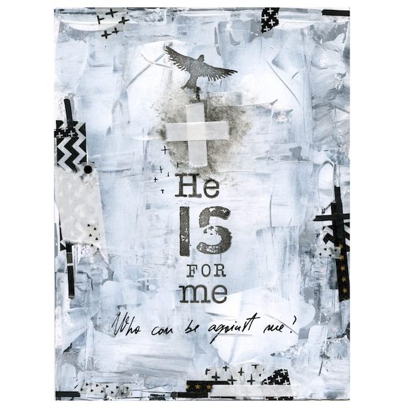 He is for me - metallic print