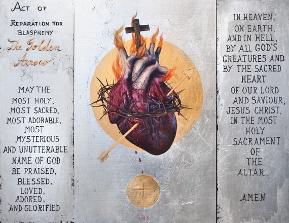 "The Sacred Heart of Jesus: The Golden Arrow - 8.5"" x 11"" fine art print"