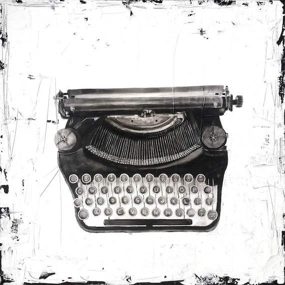 The Typewriter - print from original graphite drawing