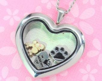 White Blue Bulk Wholesale Living Locket Charm Red Dog Paw Charms for Floating Lockets USA Seller Fast Low Shipping
