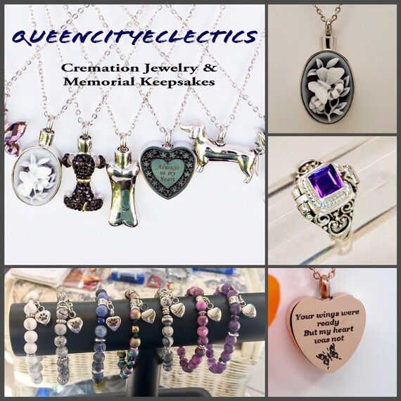 Ashes Keepsake Tribute for a Musician CZ G-Clef Cremation Urn Necklace