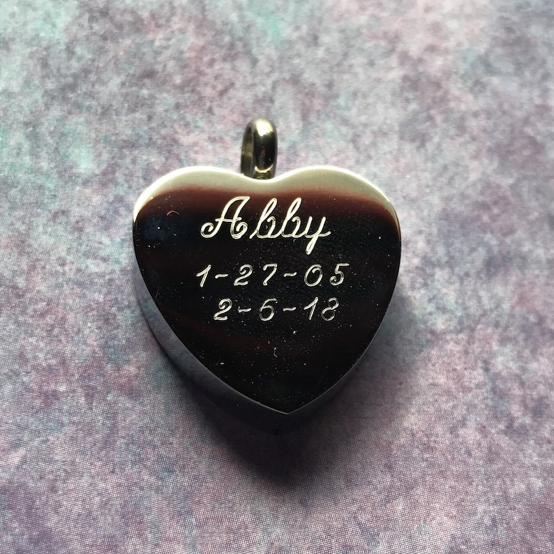 Holds Dog or Cat Ashes Engraveable Fun Paw Prints Heart Urn Necklace