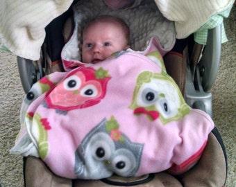 Car Seat Blanket Stroller Baby Winter Fleece Shower Gift Safe