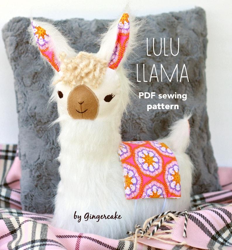 LuLu Llama Pillow PDf sewing pattern image 0