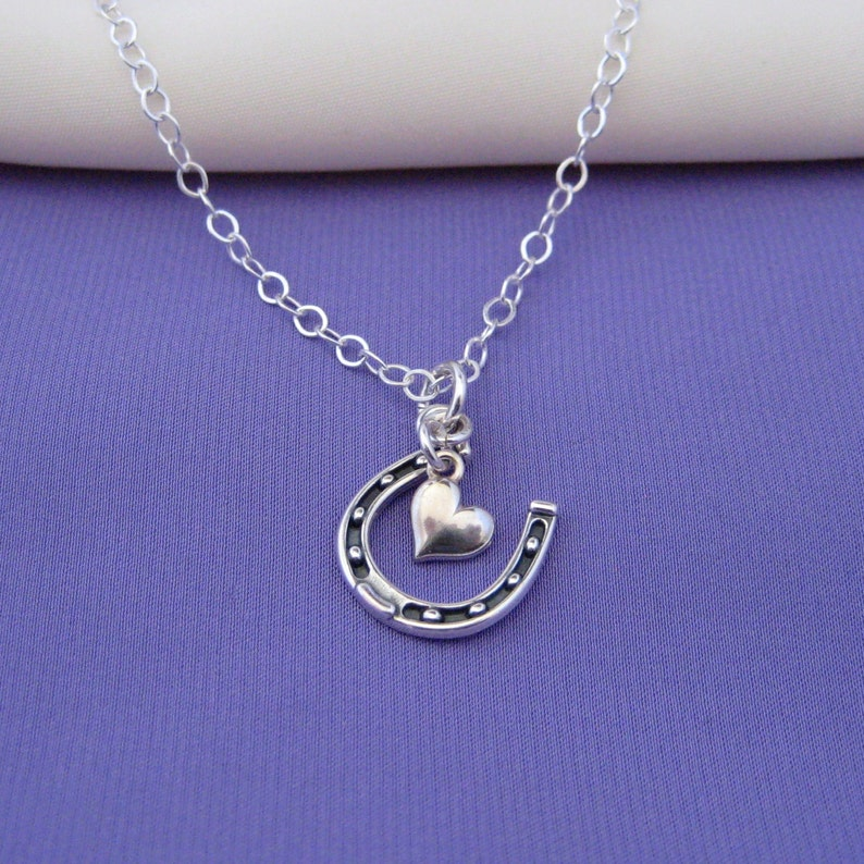 Lucky in Love Horseshoe Necklace in sterling silver