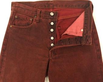 573b87f1 Vintage 1969 #524 Selvedge Redline 501 Levi Button Fly Jeans San Fransisco  34x38