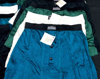 100% silk boxer briefs! Vintage 80's deadstock. New With tags! Mens sex silks bulge S-M-L-XL