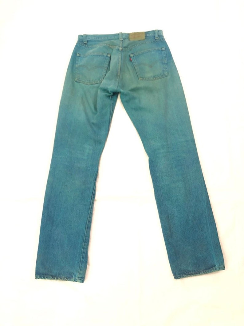 29b7b936 Vtg REAL 1969s Levi 501 Button Fly Denim Jeans Teal | Etsy