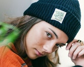 Black Friends of Nature Knit Beanie