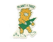 Plant a Tree Sasquatch vinyl sticker