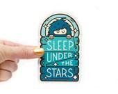 Bigfoot Sleep Under the Stars Sticker