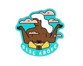 Rise Above meditation Vinyl Sticker