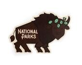 Queen Bison National Park Vinyl Sticker