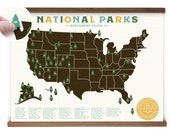18x24 National Parks print with Tree stickers