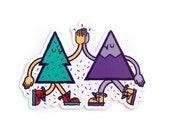 Mountain Tree Friends Vinyl Sticker