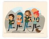 Custom Modern Family Illustration Art Print