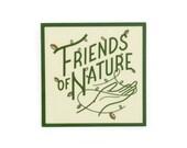 Friends of Nature Vinyl Sticker