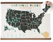 DISCOUNTED: 18x24 National Parks Gold Screen-print with Tree stickers