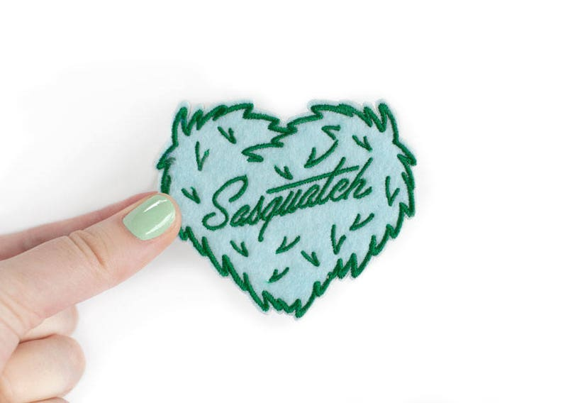 Embroidered Felt Instant Stick Patch DISCOUNTED Sasquatch Patch