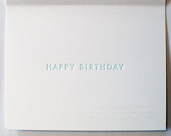 CSS Happy Birthday Letterpress Cards