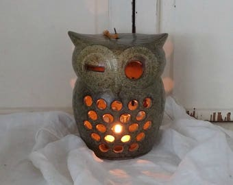 Vintage Owl Candle Lantern | Candle Holder