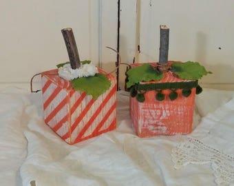 Boho Pumpkins | 4 x 4 Wood Block Pumpkins