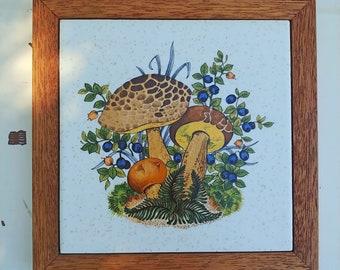 Vintage Mushroom Trivet | Kitchen Hot Plate