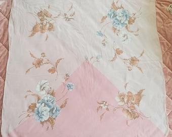 Vintage Floral Silk Scarf | Cravenette Ben Goodman Fashion