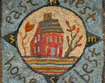 Home Is Best PDF for rug hooking and punchneedle embroidery