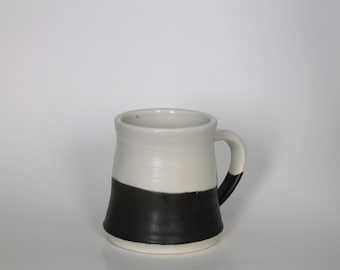 Handmade Ceramic Black and White Coffee Mug