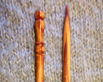 "US # 11 X 10"" Single Point Tulip Wood Knitting Needles"