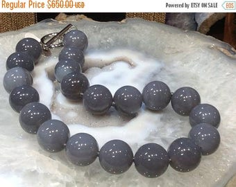 50% Mega Sale Grey Agate Necklace