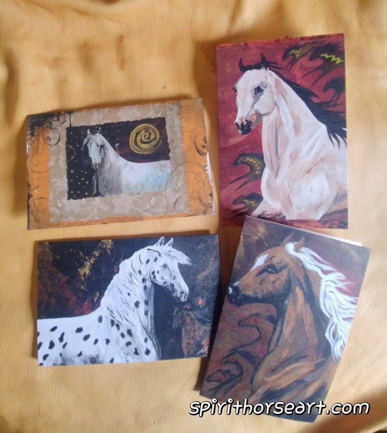 Horse Greeting Cards Set of 4 with verses image 0