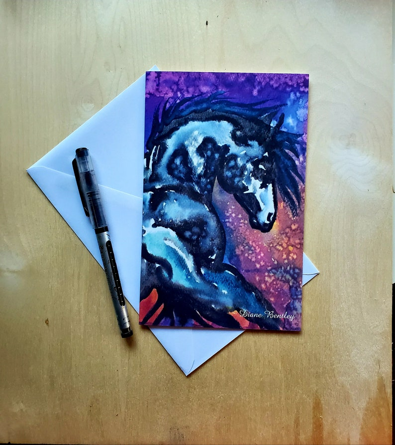 4 Pinto Paint Horse Greeting Cards Set of 4 Spirit Horses image 0