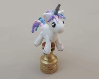 Unicorn Lamp Finial....Hand Crafted to Order