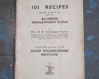 101 Recipes - Allinson Flour Recipe Booklet - Good Housekeeping Institute - 1920's/30's