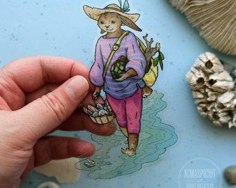 Beach Rabbit Sticker