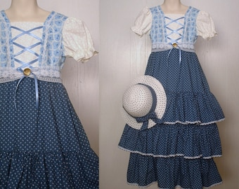 childs victorian milk maid apron  piny maid alice pinafore book day bo peep