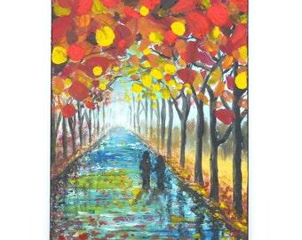 Rain Rain , 11x14 Acrylic Painting