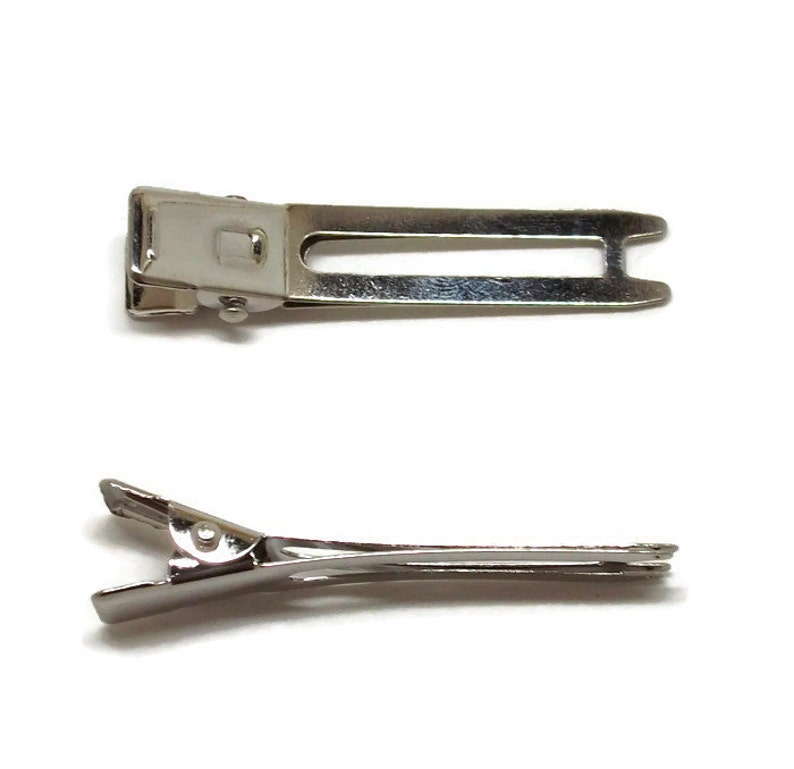 1 78 inch 100 Double Prong Alligator Hair Clips 48mm