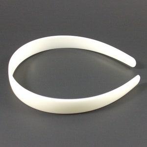 "WHOLESALE Lot 108 White Plastic HEADBANDS 3//4/"" 20mm Tapered NO Teeth  Free Ship"