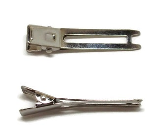 25 Double Prong Alligator Hair Clips 48mm (1 7/8 inch)